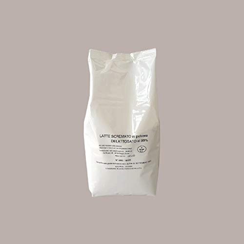 LUCGEL Srl (1 Kg) Leche en polvo instantánea desnatada sin lactosa