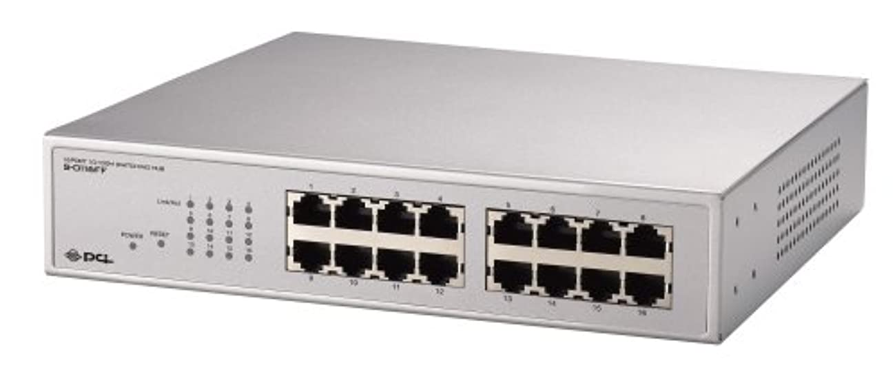 PLANEX VLAN TRUNK対応 16ポート10M/100Mスイッチングハブ S-0116FF