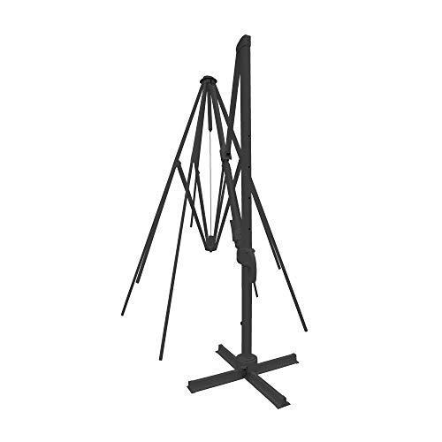 paramondo parapenda Plus Ampelschirmgestell inkl. Standkreuz, Rechteckig 4 x 3 m, Stabiler Mast, Aluminium Pulverbeschichtet, Anthrazit