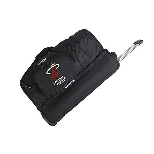 NBA Miami Heat Rolling Drop-Bottom Duffel Bag, 27-inches
