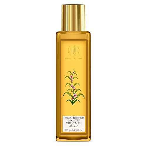 Forest Essentials Organic Cold Pressed Almond Virgin Oil, 200ml