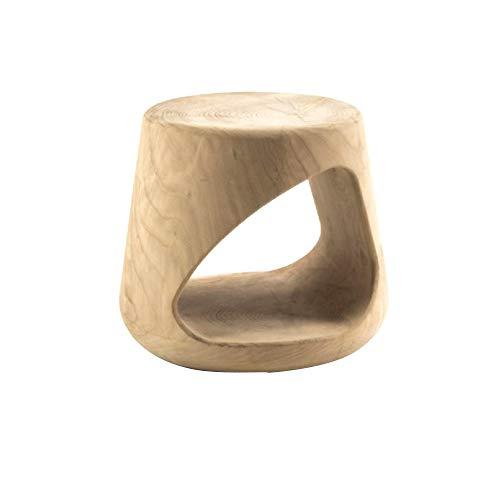 Eckkonsole, Beistelltisch für Kaffee, Snacks, rustikale Akzente, Holzfarbe, klein, rund, Ablagetisch aus Holz, holz, natur, 38x38x42cm