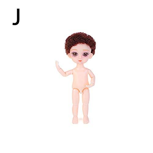 Persiverney 16CM / 6.3IN Baby Pelones Juegaterapia Todos Muñeco Bebé Regalos Originales Bebes 1 Año, Muñeca de Pudín, Muñeca de Simulación, con Acrílico 3D Belleza para Niñas lovable eco - friendly