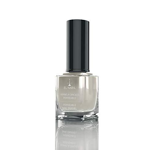 Nagellack Fatiha 13ml Weiß mit Glitzer - El-Nabil - Nail Polish Helal für Frauen - mit UV Filter