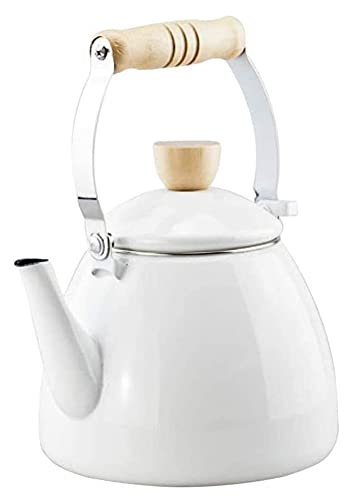 Kettle Kettles 2.2L Pote de gruesa Tetal Té Cafetera Cocina de Inducción Estufa de gas Copa de té (Color : White, Size : 17.5x26cm)