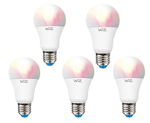 Sparpack 5er Pack WiZ G2 Colors A60 E27 Smart LED Leuchtmittel Dimmbar, WLAN, lm810, App & Voice Control Alexa, Siri, Google & IFTTT