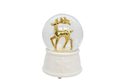The Good Life MUSICAL Christmas Xmas Reindeer Stag Snow Globe Water Ball Plays WE WISH YOU A MERRY XMAS