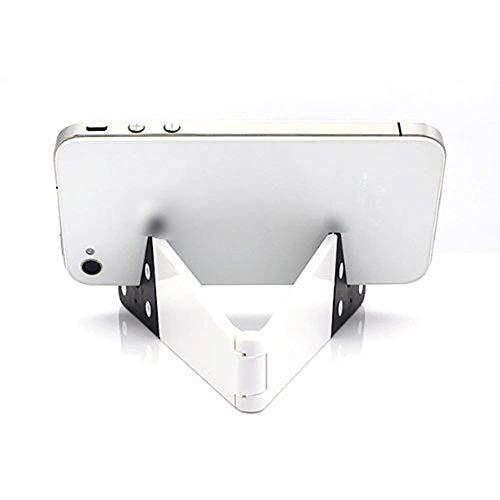 Un-brand Smart Phone e Tablet Desktop Stand V Forma Pieghevole Verticale e Orizzontale Telefono StandMount per Cellulari Bianco