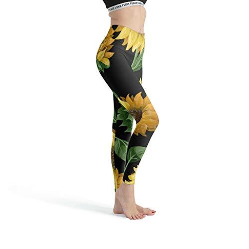 Bobonc Comfort Yoga Capri leggings voor dames, comfortabel hoge taille, sport, zonnemotent, waterkleurig patroon, joggingbroek push-up