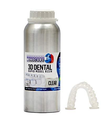 Monocure 3D Rapid DenTAL - Modelo Clear (transparente), 1,25 L