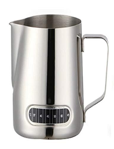 SJQ-coffee pot CafetièRe à Becs Pointus de Haute Qualité - Cylindre à Fleurs en Acier Inoxydable - avec DéViation - Bande de TempéRature - Manche Anti-BrûLure - 600ml - Bouilloire Domestique