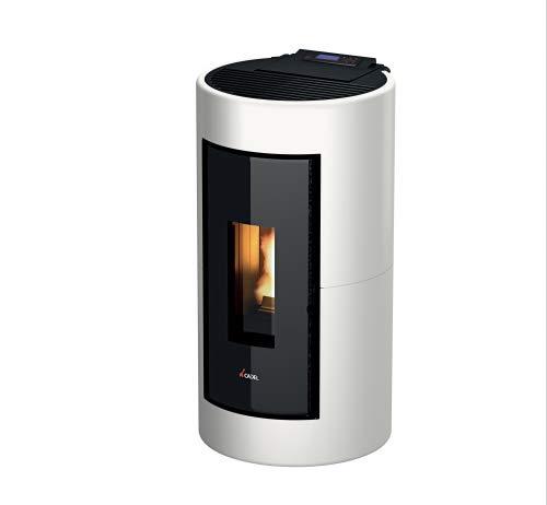 Pelletofen Cadel Shell 8,6 kW Pellet Ofen Pellets Holzpellets Auswahl-Shell Metall-Weiss