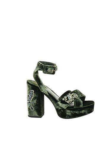 Ash Luxury Fashion Femme BOOMBUTTE02 Vert Suède Sandales | Printemps-été 20