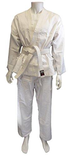 Carta Deporte Hombres del Kimono de Karate, Hombre, Color Blanco, Tamaño XL