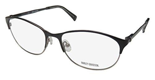 Harley-Davidson Hd 516 For Ladies/Women Cat Eye Spring Hinges Simple & Elegant Sleek Eyeglasses/Glasses (57-17-140, Black/Glitter/Gray)