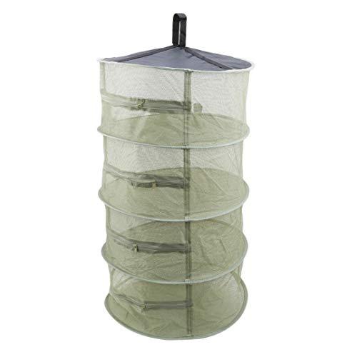JOOFFF Trockennetz 4-lagig Trockner einfaches Hängen-Netz mit Reißverschluss faltbar Trockennetz für Geschirr Gemüse Pflanzen, Army Grün, Siehe Produktbeschreibung