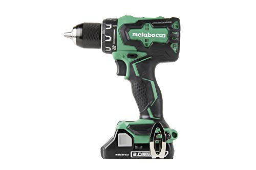 Metabo HPT 18V Cordless Driver Drill Kit   Includes 3.0 Ah Lithium Ion Battery   Built-in LED Light   1/2-Inch Keyless All-Metal Chuck   Lifetime Tool Warranty   Brushless (DS18DBFL2S)