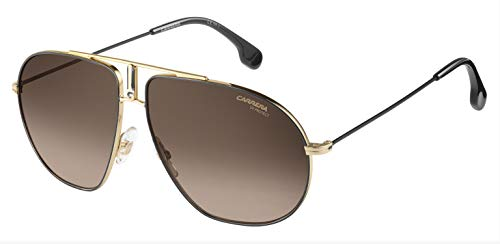Carrera Unisex-Adult Bound/S Sunglasses, Black Gold/Brown Gradient, 62 mm