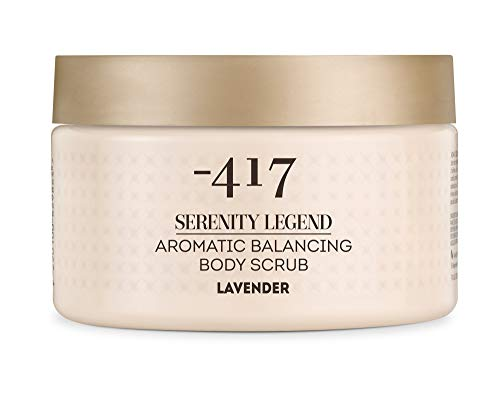 -417 Aromatic Body Scrub Lavender – Precious Mineral Complex – Dead Sea Minerals- Aromatic Vegan Body Exfoliator for All Skin Types Serenity Legend Collection