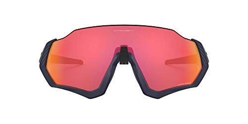 OO9401 Flight Jacket Shield Sunglasses, Matte Navy/Prizm Trail torch, 37 mm