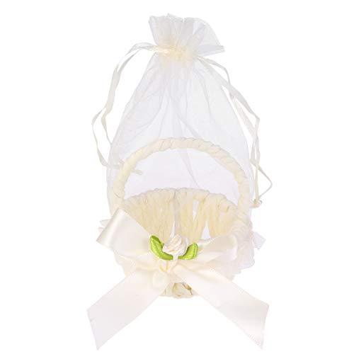 Amosfun - Bolsas de regalo con forma de cesta, lazo para baby...