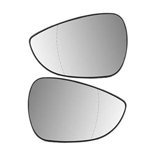 NERR YULUBAIHUO ala de la Puerta Espejo de Respaldo Copia de Seguridad Ajuste de Vidrio climatizado para Ford Fiesta MK7 / MK7.5 2009-2017 Accesorios de Espejo de Coche (Color : Right Side)
