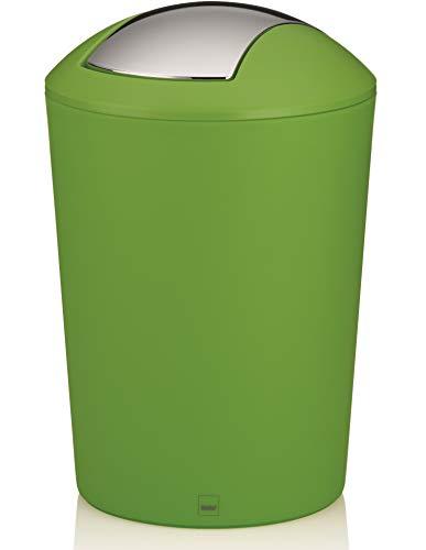 Kela Schwingdeckeleimer Marta Kunststoff, grün, 29 cm 19,5 cm Ø 5 l
