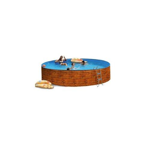 Piscina acero etnica promo imitacion madera 4,50x0,90m 8102