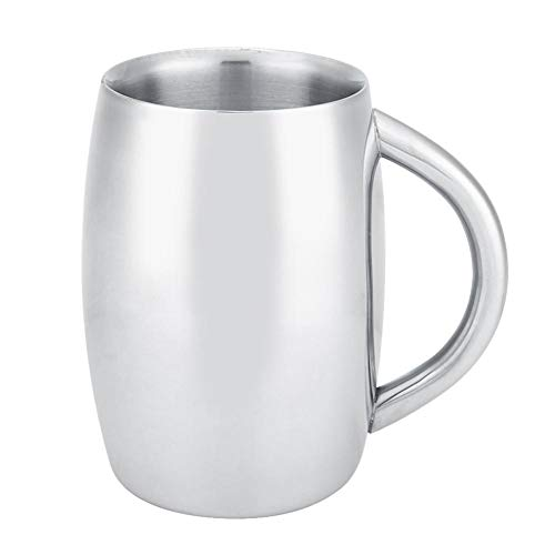 Dubbele Muur Koffie Beker, 1 Pc RVS Bier Thee Mok met Handvat voor Keuken Gadget