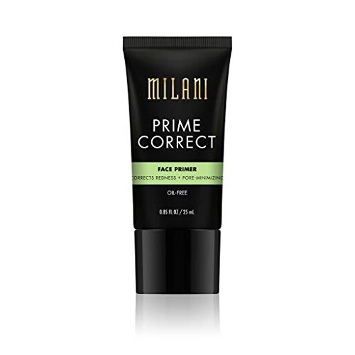 Milani Prime Correct Face Primer - Corrects Redness + Pore-Minimizing (0.85 Fl. Oz.) Vegan, Cruelty-Free Face Makeup Primer to Color Correct Skin & Reduce Appearance of Pores