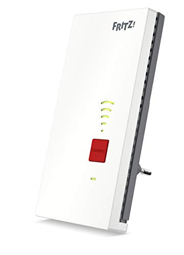 AVM FRITZ!Repeater 2400 International Repeater/Repeater/Extender WiFi AC+N (Dual Band tot 1.733 Mbps bij 5 GHz + 600 Mbps op 2,4 GHz), mesh, 1x Gigabit LAN, WPS, Italiaanse interface