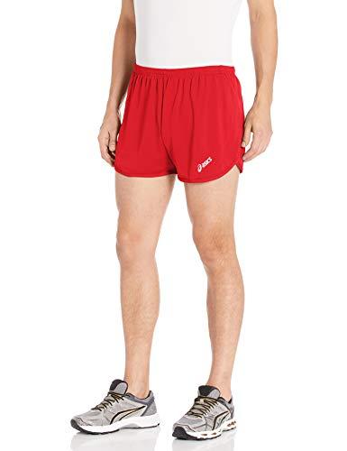 ASICS Rival II 1/2 Split Shorts da Uomo Rosso M