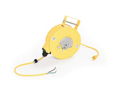 Cord NEMA 1 Cord Drum Reel with 16//3 SJTOW Woodhead 980-3000 Cable Reel with Super-Safeway Outlet Box 4 Outlets 50ft