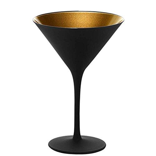Cocktailglas Olympic - Schwarz / Gold matt - 6 Stück