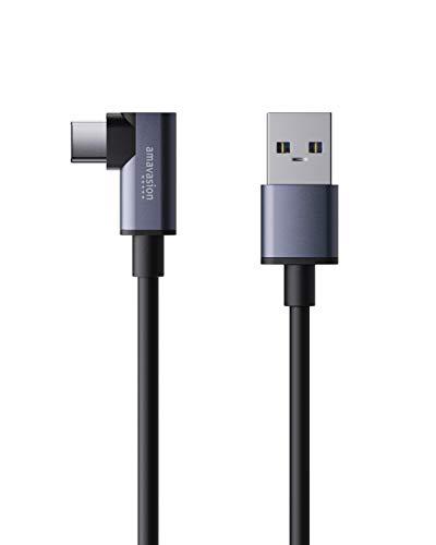 Oculus Link Kabel 5m, Amavasion USB-A zu USB-C Virtual-Reality-Headset-Kabel - Hochgeschwindigkeits-Datenübertragungs- und Schnellladekabel für Oculus Quest 2 und Quest to Compatible Gaming PC