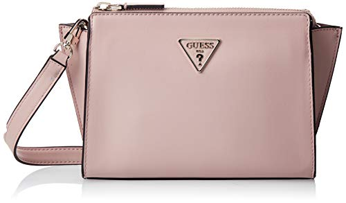 Guess Tangey Mini Crossbody Top Zip Borsa a Tracolla da Donna, Rosa Scuro, Taglia Unica