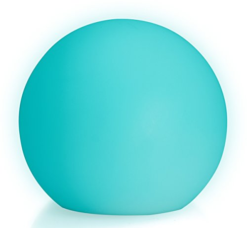LED Boule Sphère lumineuse Ø 20 cm multicolore RGB 16 couleurs sans câble avec accumulateur et télécommande Etanche et flottant IP65 Extérieur lampe mood ball decoration Luminaire Design