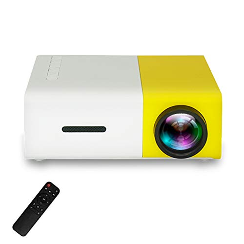 Mini Projector, Portable Home Theatre Ondersteunt 1080P Full HD LED-projector, Max. 80-inch Scherm Voor PS4 Xbox-games Voor Filmamusement, Ondersteunt HDMI VGA AV USB Micro SD