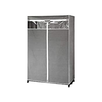 Type A Covered Garment Rack   Dust & Odor Proof   Gray & Clear   40 x 19.5 x 61 in
