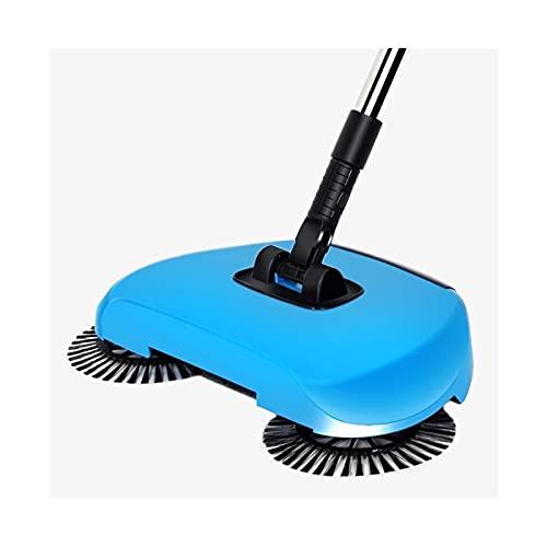 XINXI-YW Barredora Escoba de Acero Inoxidable Máquina de Barrido Tipo de Empuje Escoba Dustapan asa Manejo Aspirador Mano Mano Pulse Sweeper Floor para Pisos alfombrados. (Color : 1 Cloth Set)