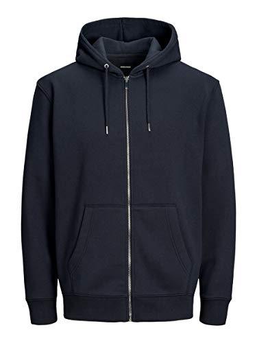 Jack & Jones Jjesoft Sweat Zip Hood Noos Sudadera, Azul (Navy Blazer Fit: Relax), X-Large para Hombre