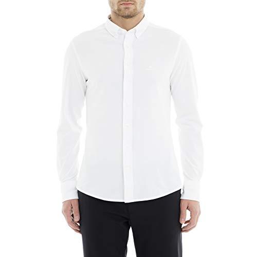 GANT Herren TP Pique SOLID Slim BD, White, XL