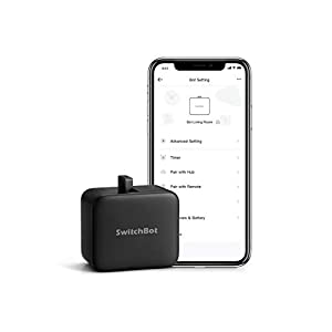 SwitchBot Smart Switch Button Pusher - No Wiring, Wireless App or Timer Control, Add SwitchBot Hub Compatible with Alexa, Google Home, HomePod, IFTTT