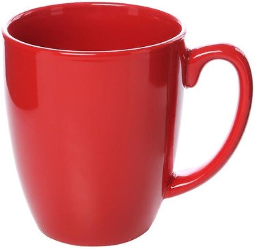 Livingware 11 Oz Mug Set Of 6 Color Red