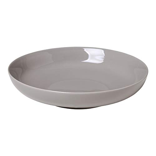 Blomus 64022 Teller-64022 Tiefer Teller, Porzellan, Eiche