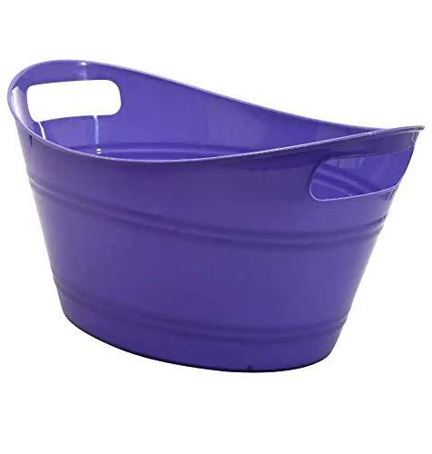 Plastic Storage Tub (Top Rim 12.5' x 9.25' x 6.5' Tall) (Eggplant)