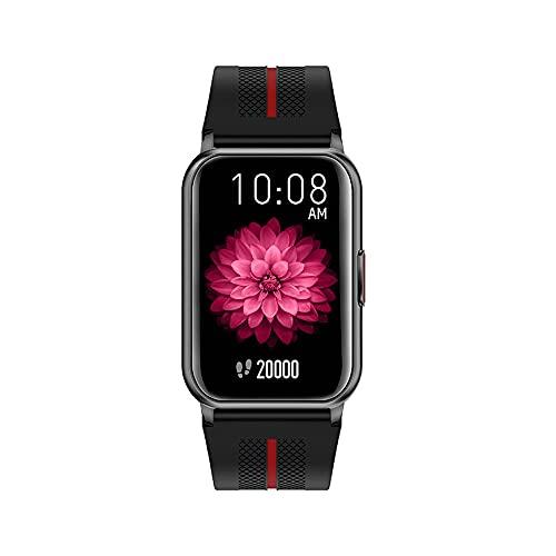 linyeshangmao Reloj Inteligente, medición de frecuencia cardíaca, medición de la presión Arterial. (Color : Black)