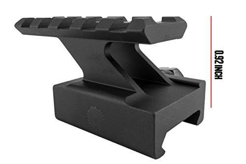 Monstrum Lockdown Series Picatinny Riser Mount | 2.2 inch | 5 Slot | High Profile