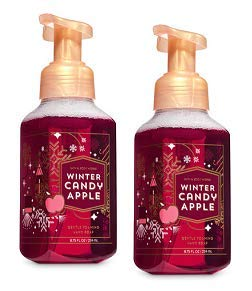 Bath and Body Works 2 Winter Candy Apple Gentle Foaming Hand Soap. 8.75 Oz.