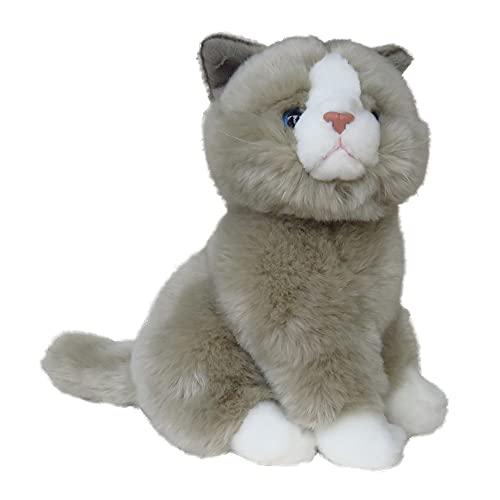 Animales de peluche, animales de peluche, gato sentado, gris